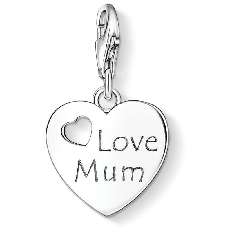 Ladies Thomas Sabo Sterling Silver Charm Club Love Mum Charm 1055-001-12