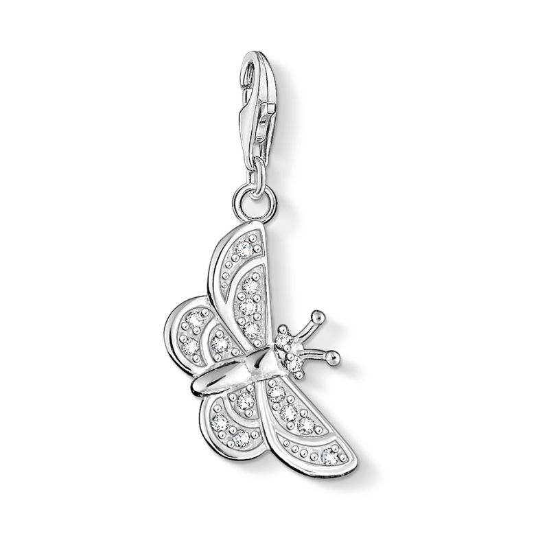 Ladies Thomas Sabo Sterling Silver Charm Club Butterfly Charm 0455-051-14
