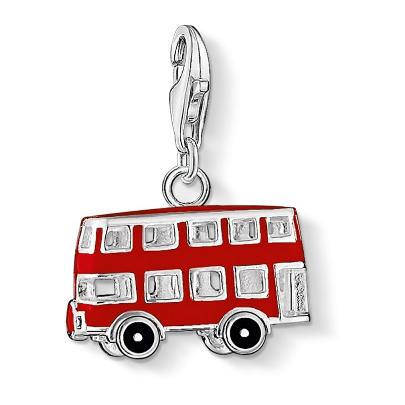 Ladies Thomas Sabo Sterling Silver Charm Club London Bus Charm 0495-007-7