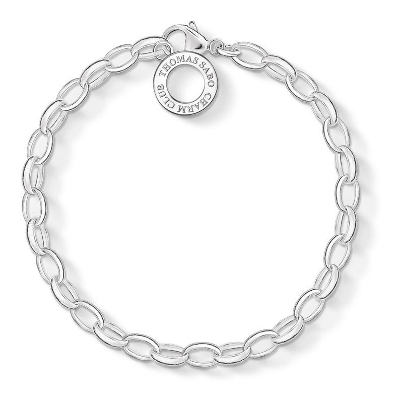 Ladies Thomas Sabo Sterling Silver Charm Club Charm Bracelet X0031-001-12-S