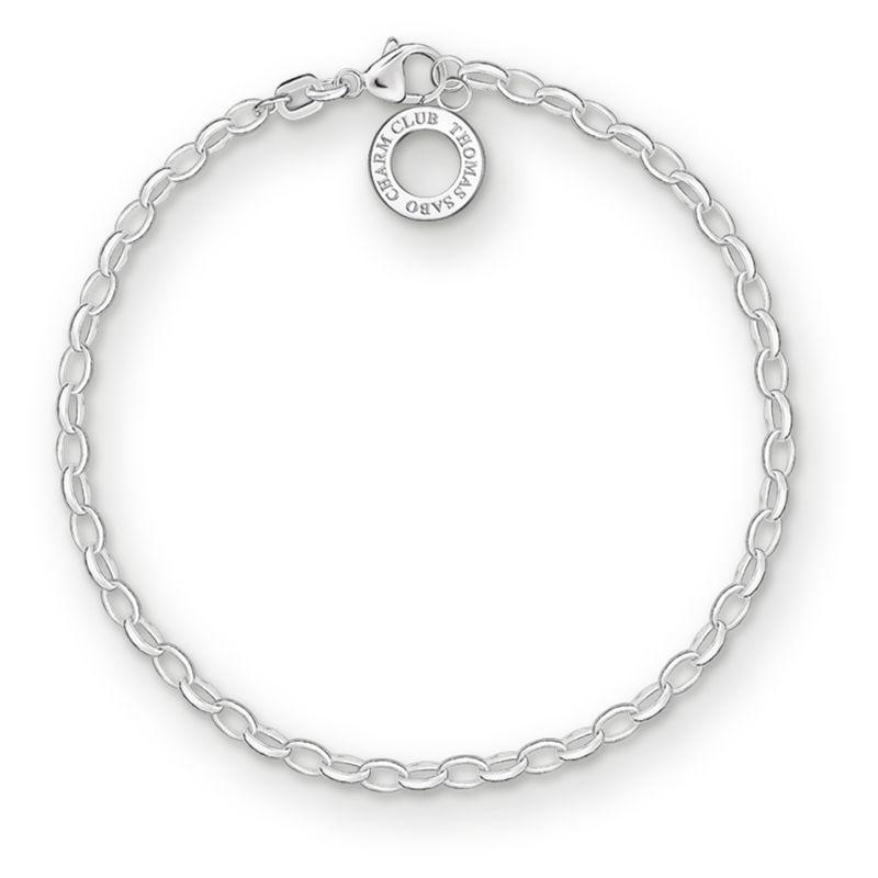 Ladies Thomas Sabo Sterling Silver Charm Club Charm Bracelet X0163-001-12-S