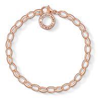femme Thomas Sabo Jewellery Sterling Silver Charm Club Charm Bracelet Watch X0031-415-12-M