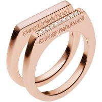 Ladies Emporio Armani Sterling Silver Size P Ring