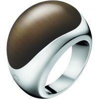 Damen Calvin Klein Edelstahl Größe L.5 Closed Ring