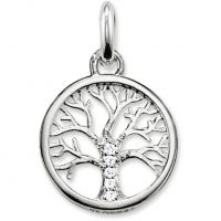 Ladies Thomas Sabo Sterling Silver Karma Beads Tree of Life Pendant