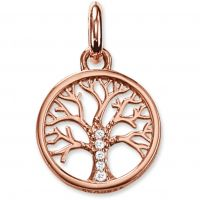 Ladies Thomas Sabo Sterling Silver Karma Beads Tree of Life Pendant KC0002-416-14