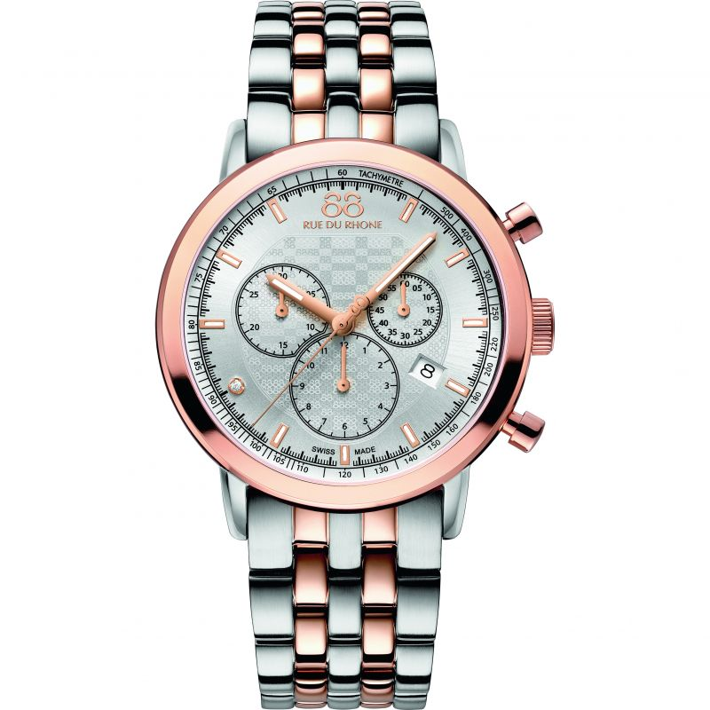 Herren 88 Rue Du Rhone Double 8 Origin Chronograph Diamond Watch 87WA154204