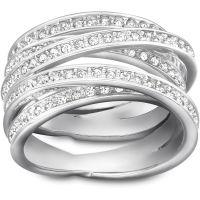 Damen Swarovski Edelstahl Größe L.5 gewunden Ring 52