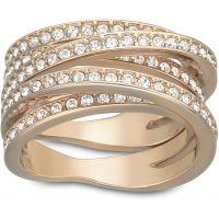 Damen Swarovski PVD Rosa plating Größe Q gewunden Ring 58