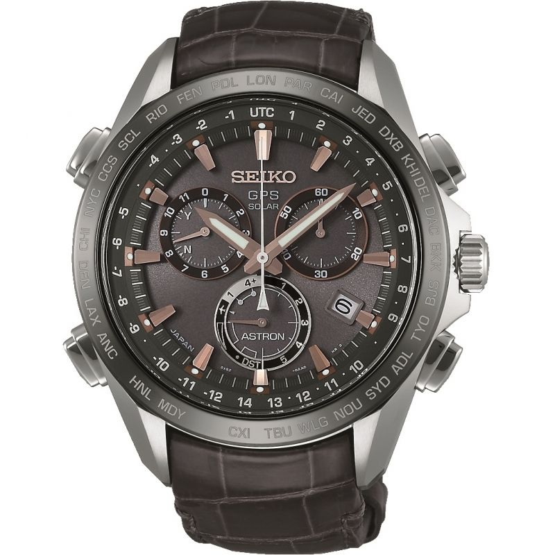 Herren Seiko Astron GPS Chronograph Solar Powered Watch SSE023J1