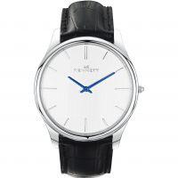 Herren Kennett Kensington Silber Weiß Schwarz Uhr