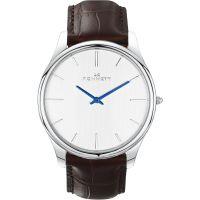 Herren Kennett Kensington Silber Weiß dunkel Braun Uhr