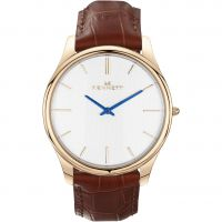Herren Kennett Kensington Rose Gold White Light Brown Watch KRGWHLGTBRN