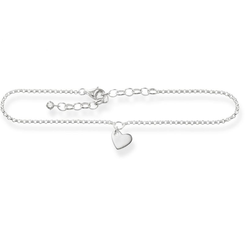 Ladies Thomas Sabo Sterling Silver Glam & Soul Anklet AK0003-051-14-L27V