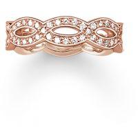 Ladies Thomas Sabo Sterling Silver Size M.5 Ring TR1973-416-14-52