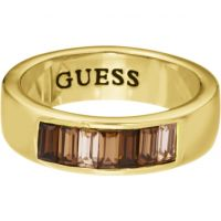 Femmes Guess PVD Or plaqué Taille P Bague