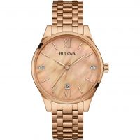 femme Bulova Diamond Gallery Watch 97S113