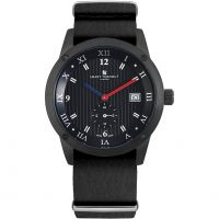 Mens Smart Turnout Town Watch with Black Leather Nato Strap Watch