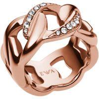 Damen Emporio Armani PVD Rosa plating Größe M.5 Ring