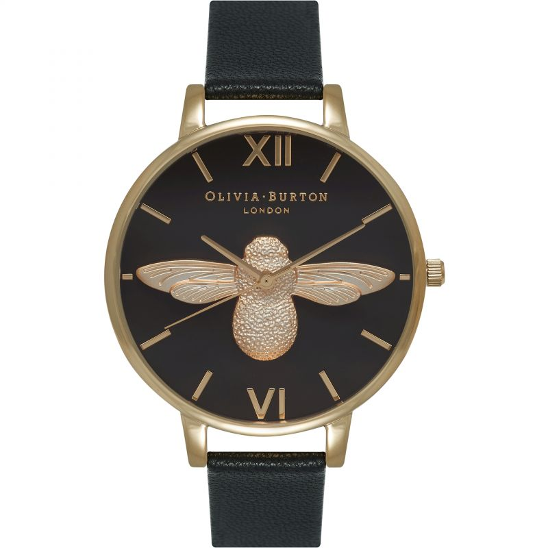 femme Olivia Burton Animal Motif 3D Bee Big Dial Watch OB15AM64