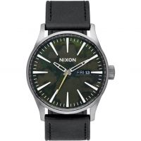 homme Nixon The Sentry Leather Watch A105-2069