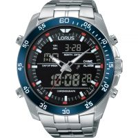 Herren Lorus Alarm Chronograph Watch RW623AX9