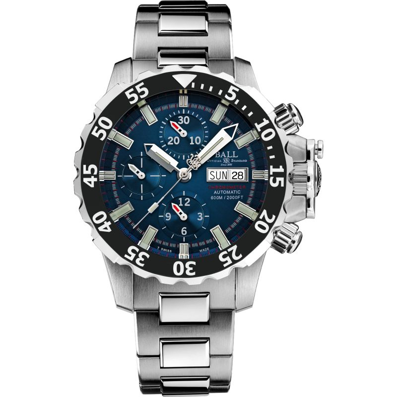 Mens Ball Engineer Hydrocarbon NEDU Chronometer Titanium Automatic Chronograph Watch DC3026A-SC-BE