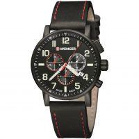homme Wenger Attitude Chrono PVD Chronograph Watch 010343104