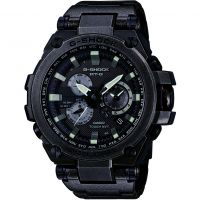 Mens Casio G-Shock Premium MT-G Aged Silver Alarm Chronograph Radio Controlled Watch