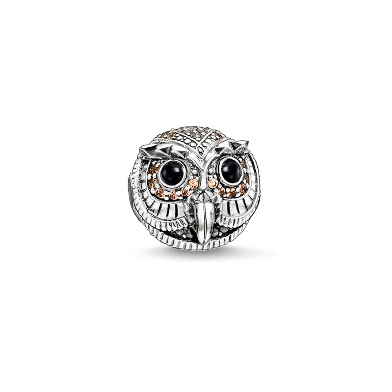 Ladies Thomas Sabo Sterling Silver Karma Beads Owl Bead K0178-650-7