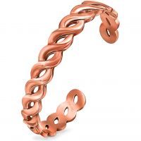 Ladies Folli Follie PVD rose plating Apeiron Cuff Bangle 5010.3202