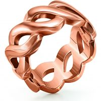 Ladies Folli Follie PVD rose plating Apeiron Ring Size P 5045.5904