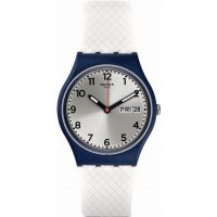 Swatch White Delight Unisex horloge Wit GN720