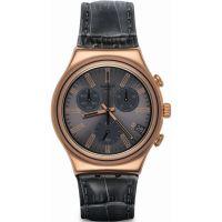 Herren Swatch eisern Chrono Chronograf Uhr