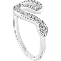 Ladies Guess PVD Silver Plated Size N Ring UBR72507-54