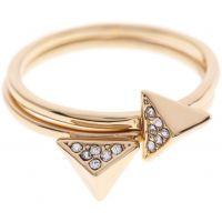femme Karen Millen Jewellery Double Arrow Ring Large Watch KMJ864-22-23L