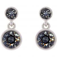 Ladies Karen Millen PVD Silver Plated Crystal Dot Earring KMJ879-01-101