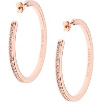 Ladies Karen Millen PVD rose plating Large Hoop Earrings KMJ173-24-02