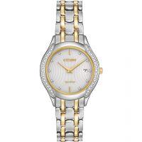 Damen Citizen Silhouette Diamant Eco-Drive Uhr