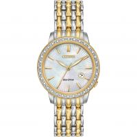 Damen Citizen Silhouette Diamant Eco-Drive Uhr