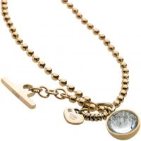 Ladies STORM PVD Gold plated Crysta Ball Necklace 9980645/GD