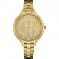 femme Caravelle New York Round Slim Watch 44L206