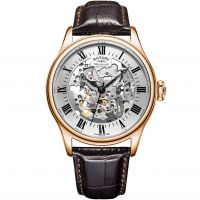 homme Rotary Vintage Mecanique Skeleton Watch GS02942/01