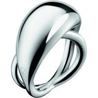 Damen Calvin Klein Edelstahl Größe L.5 Fluid Ring