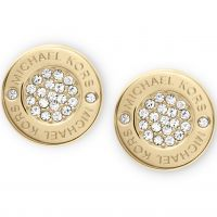 Michael Kors Dames Earrings PVD verguld Goud MKJ3351710