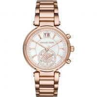 Ladies Michael Kors Sawyer Chronograph Watch