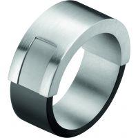 Damen Calvin Klein Edelstahl Magnet Ring Größe P
