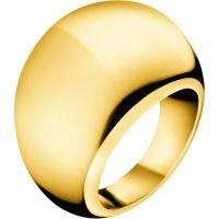 Damen Calvin Klein PVD Gold überzogen Größe O Closed Ring