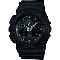 Herren Casio G-Shock Military Black Alarm Chronograph Watch GA-100MB-1AER