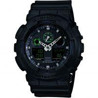 Hommes Casio G-Shock Militaire Noir Alarme Chronographe Montre